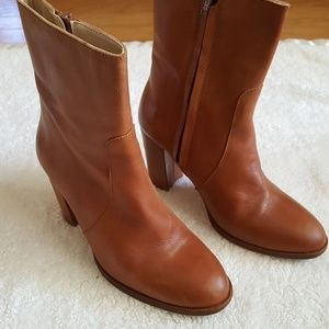 Candela Cognac leather ankle boots size 7